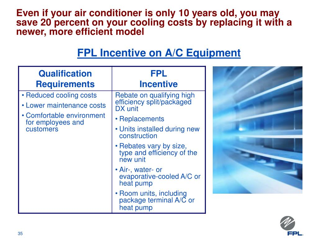 FPL Incentive on A/C Equipment