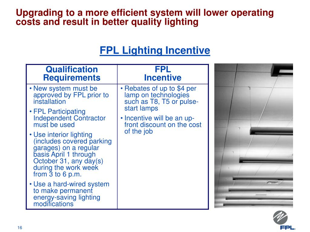 FPL Lighting Incentive