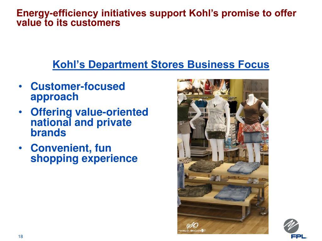 Kohl's Department Stores Business Focus