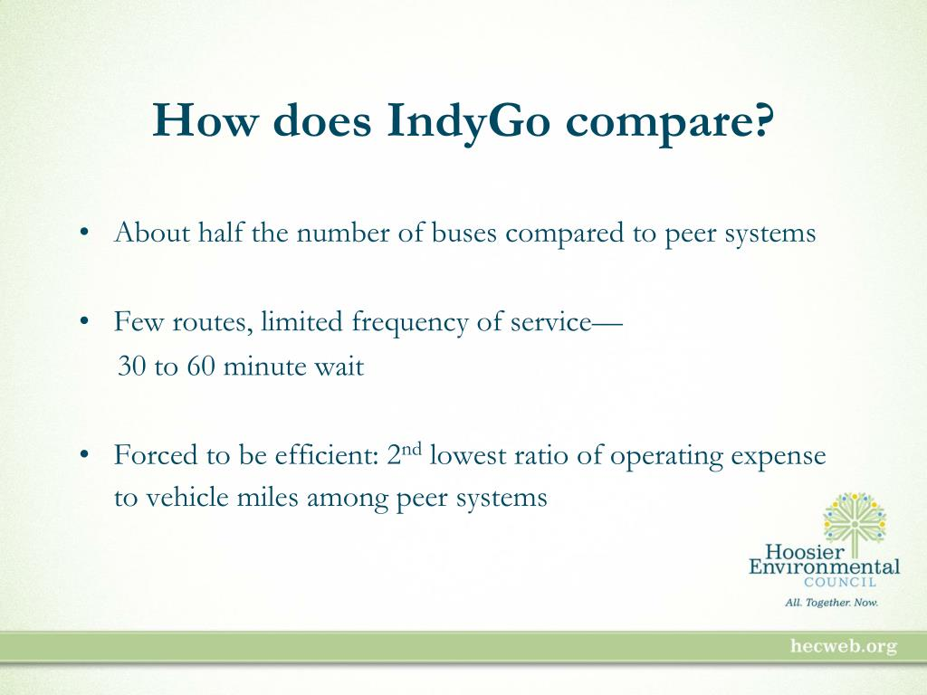 How does IndyGo compare?