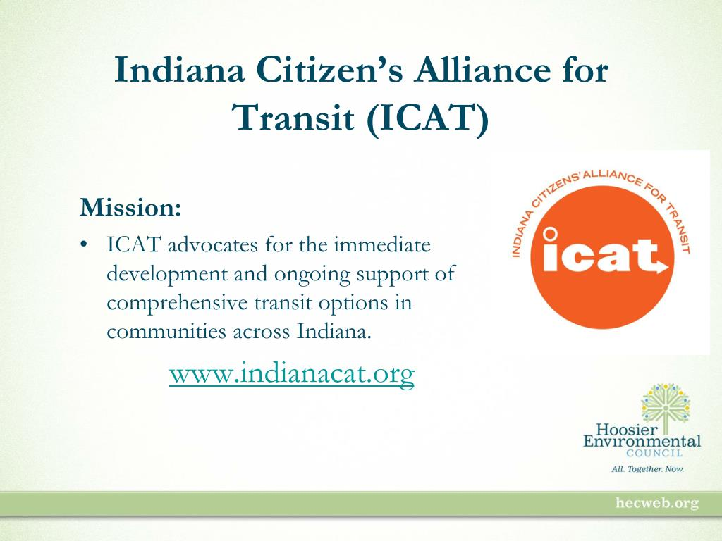 Indiana Citizen's Alliance for Transit (ICAT)