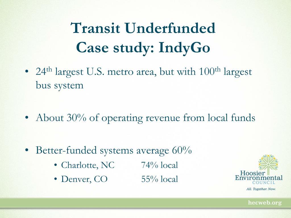 Transit Underfunded