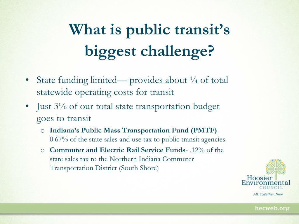 What is public transit's
