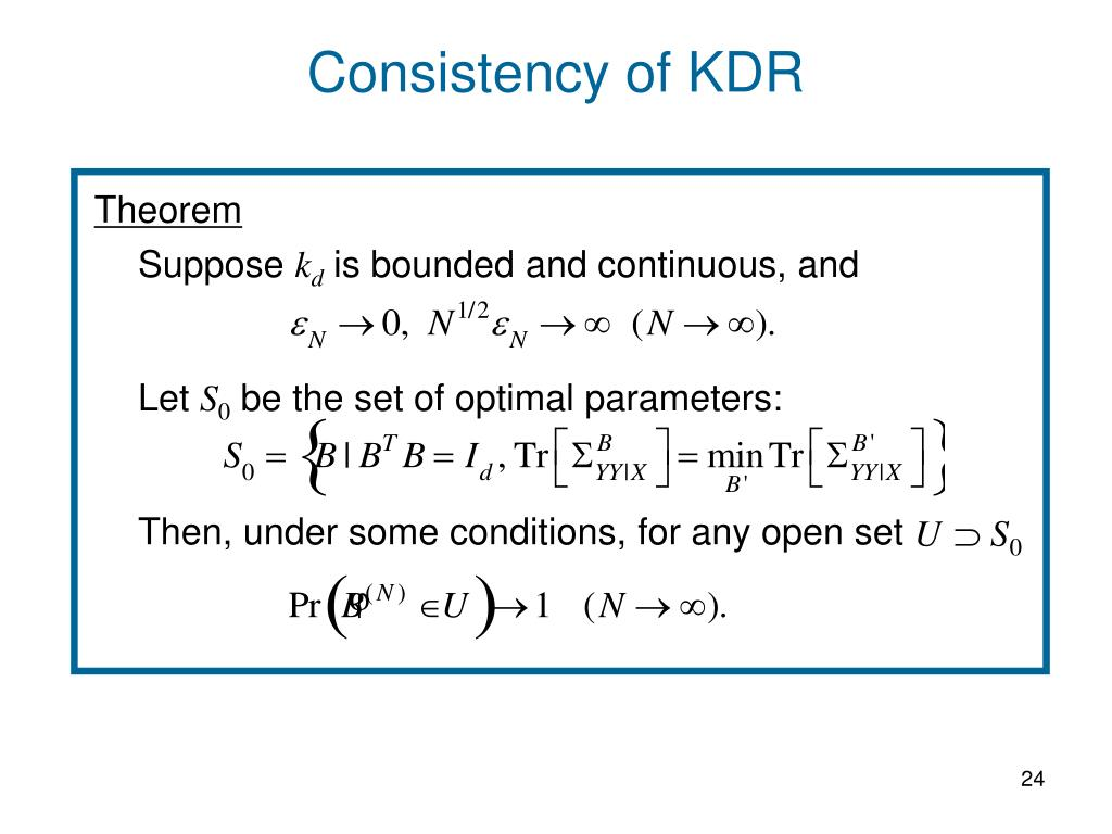 Consistency of KDR