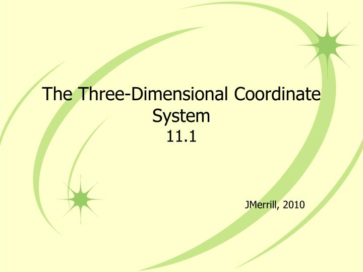 the three dimensional coordinate system 11 1 n.