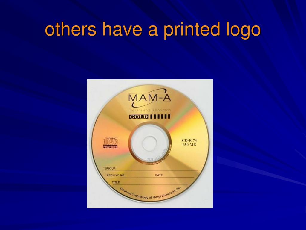 others have a printed logo
