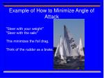 example of how to minimize angle of attack