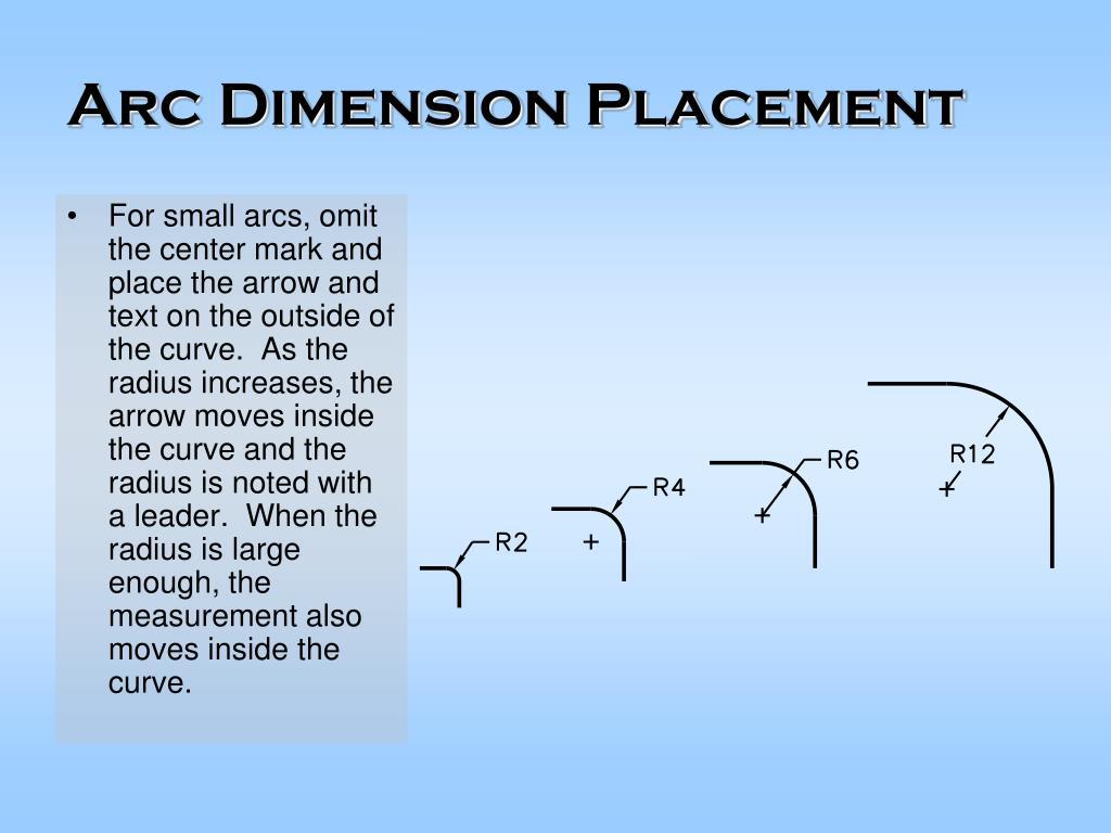 Arc Dimension Placement