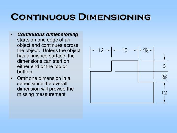 Continuous dimensioning