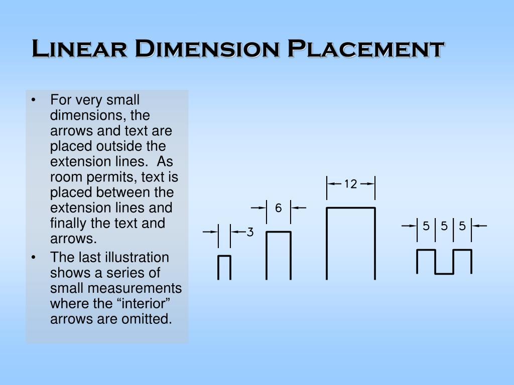 Linear Dimension Placement