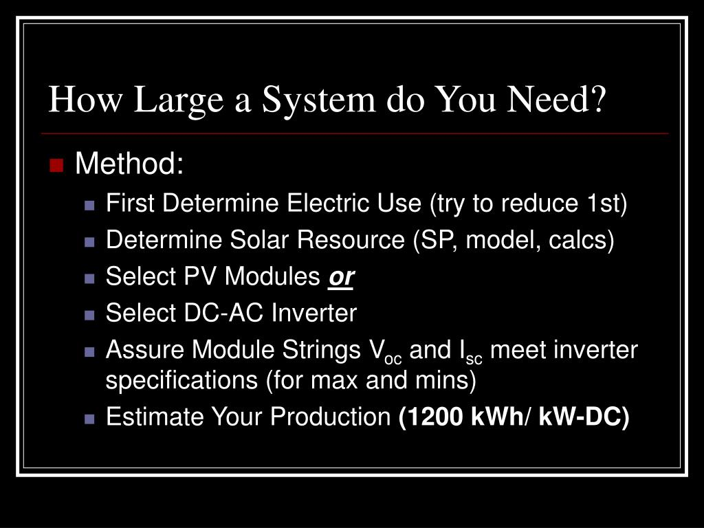 How Large a System do You Need?