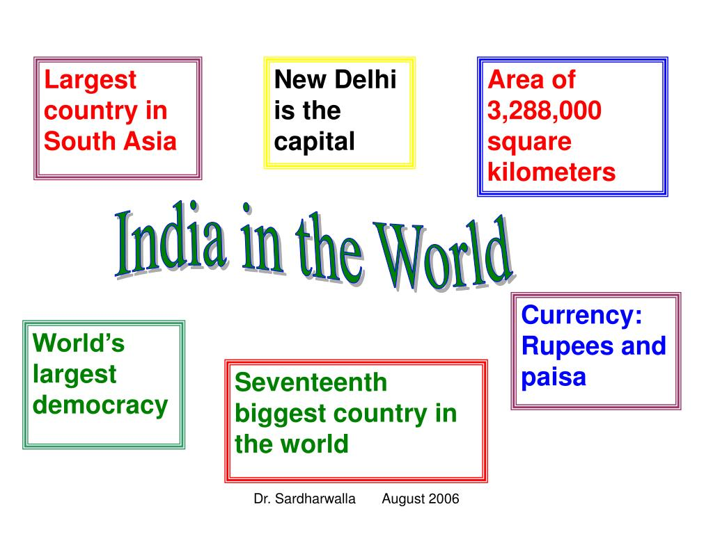 Largest country in South Asia