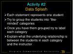 activity 2 data splash