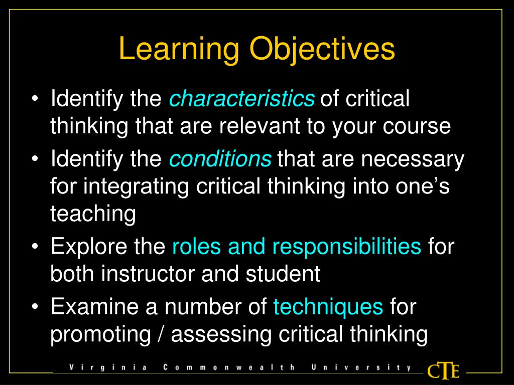 integrating critical thinking into online classes