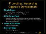 promoting assessing cognitive development