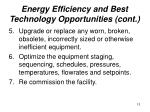 energy efficiency and best technology opportunities cont