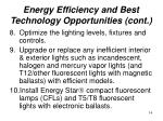 energy efficiency and best technology opportunities cont14