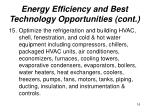 energy efficiency and best technology opportunities cont16