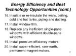 energy efficiency and best technology opportunities cont17