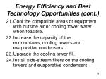 energy efficiency and best technology opportunities cont18