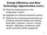energy efficiency and best technology opportunities cont19