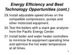 energy efficiency and best technology opportunities cont21