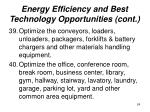 energy efficiency and best technology opportunities cont24