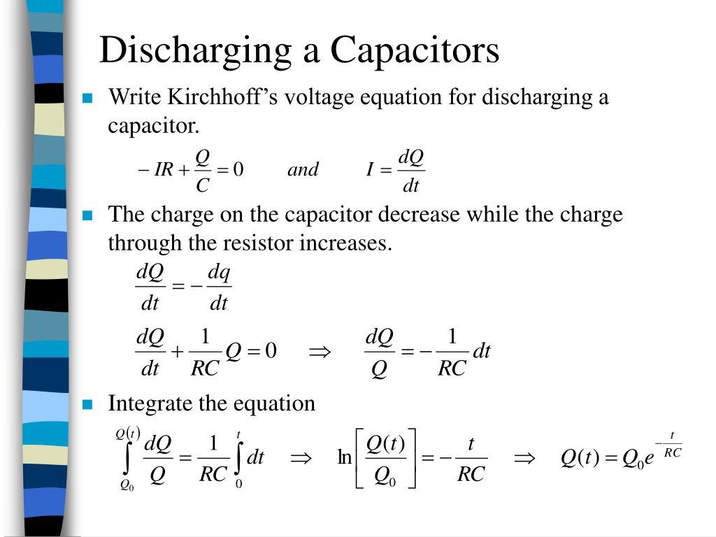 Discharging a Capacitors