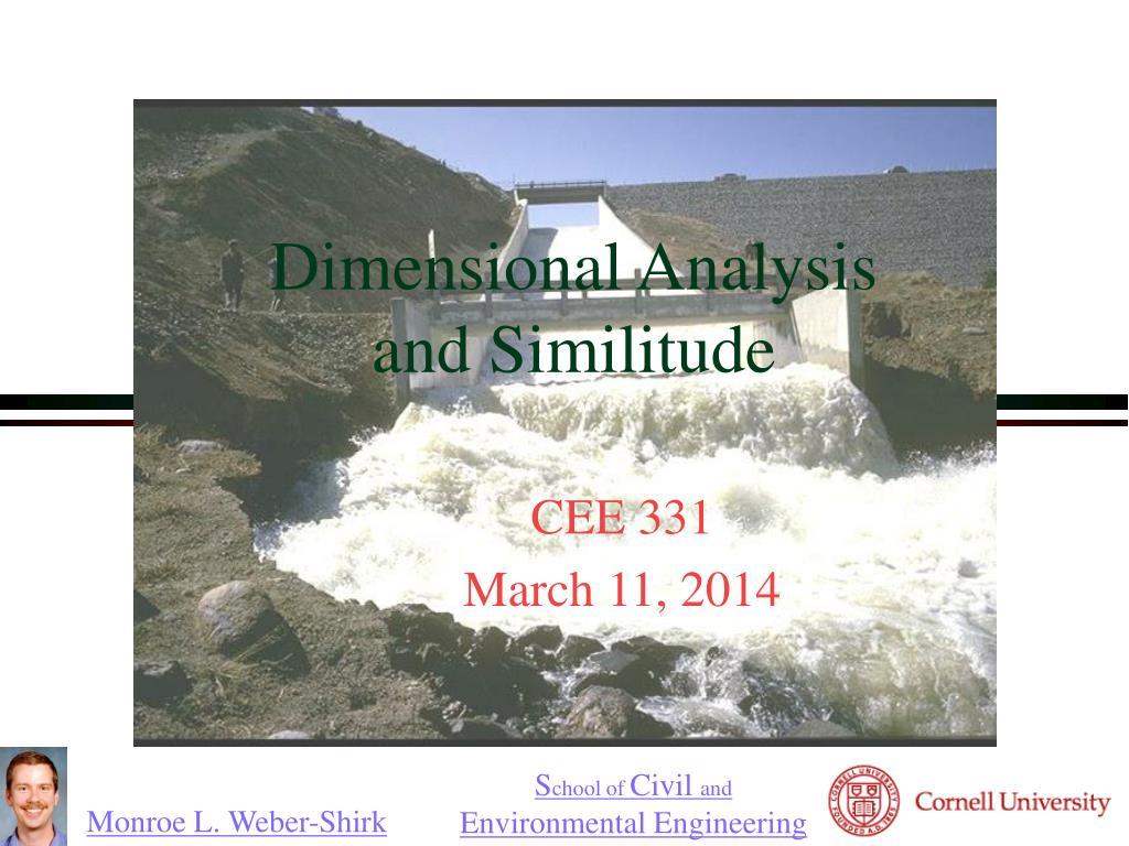 dimensional analysis and similitude l.