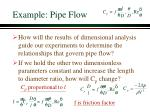 example pipe flow24