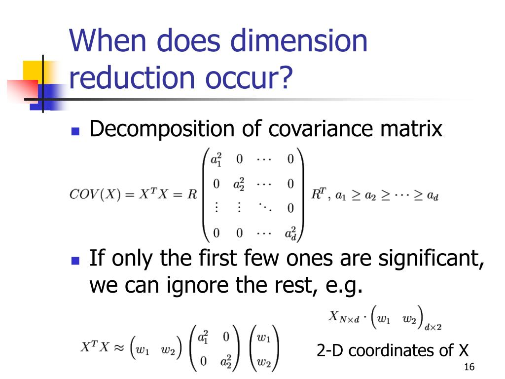 When does dimension reduction occur?