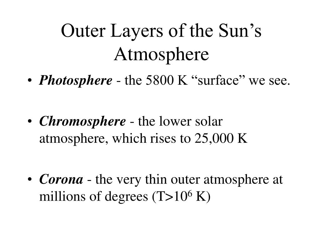 Outer Layers of the Sun's Atmosphere
