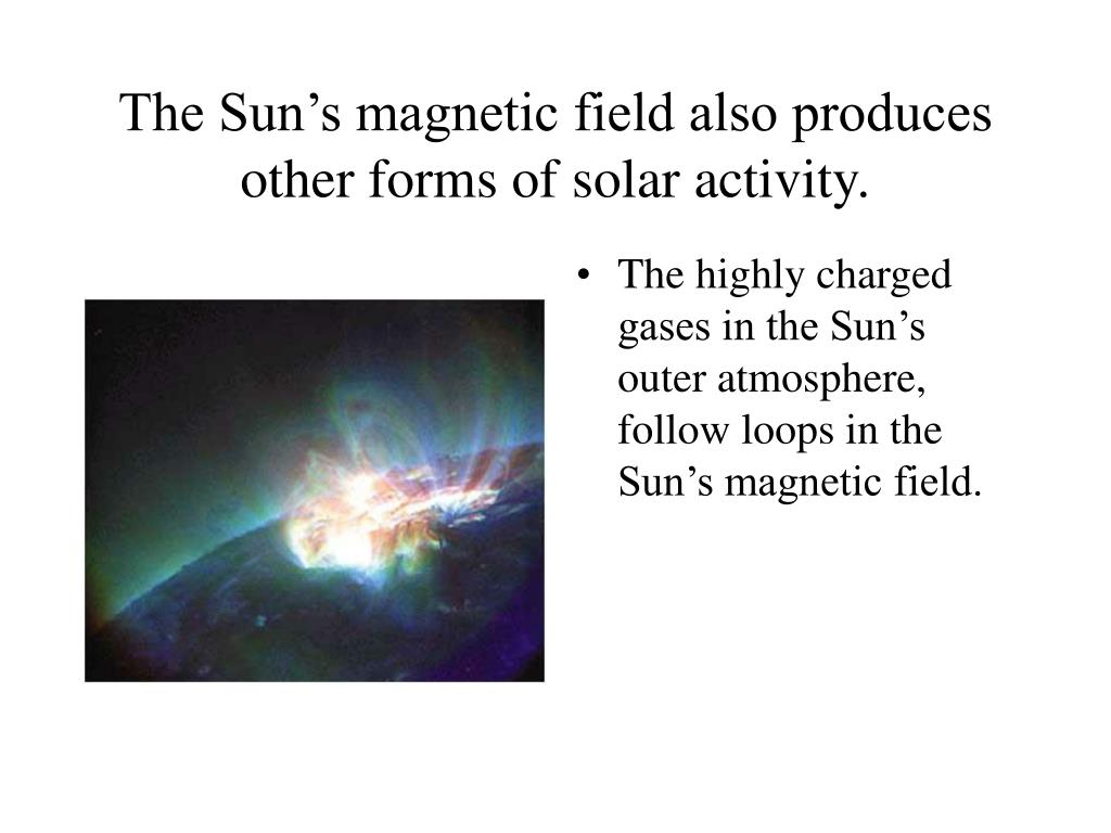 The Sun's magnetic field also produces other forms of solar activity.