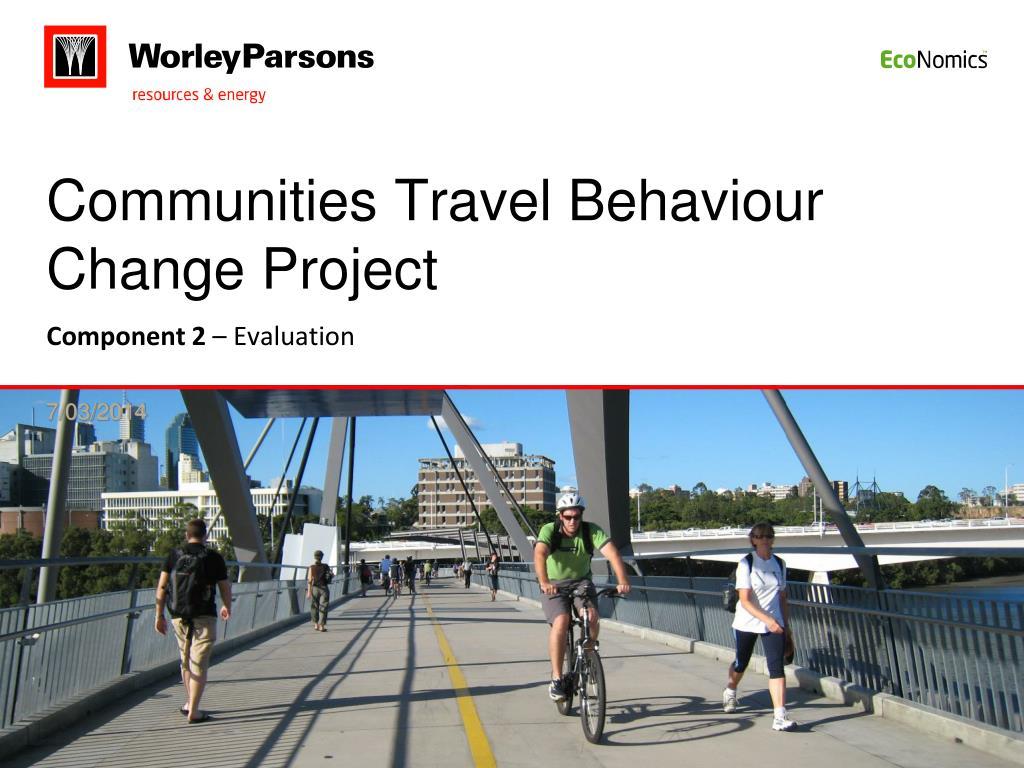 communities travel behaviour change project l.