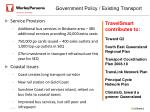 government policy existing transport