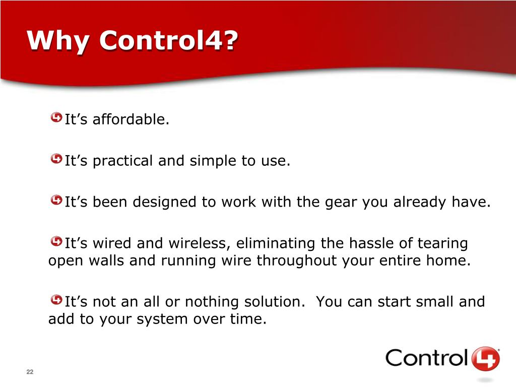 Why Control4?