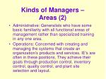 kinds of managers areas 2