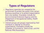 types of regulators