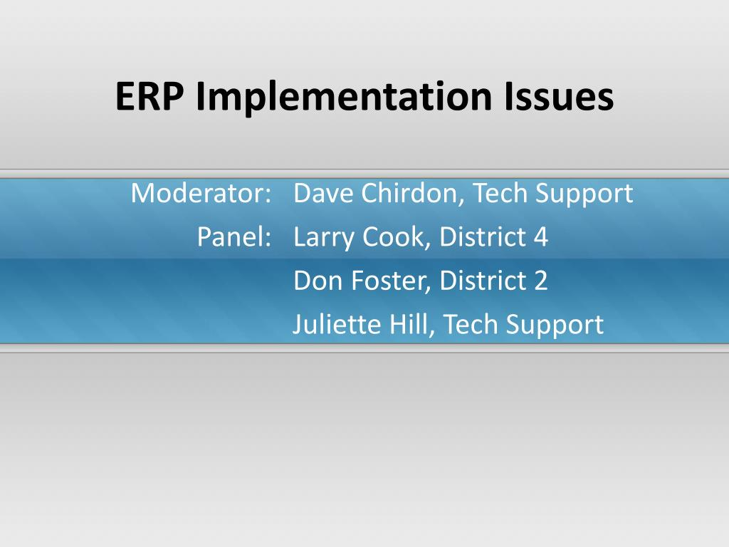 erp implementation issues l.