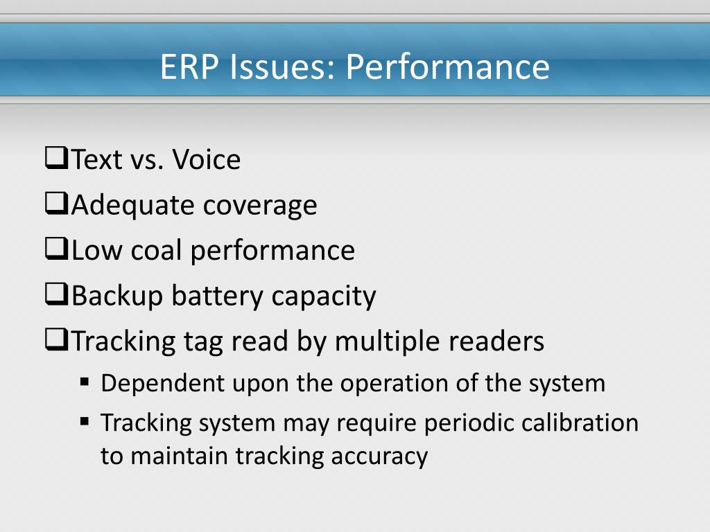 ERP Issues: Performance