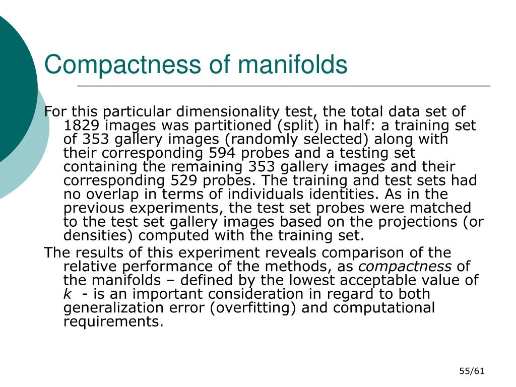 Compactness of manifolds