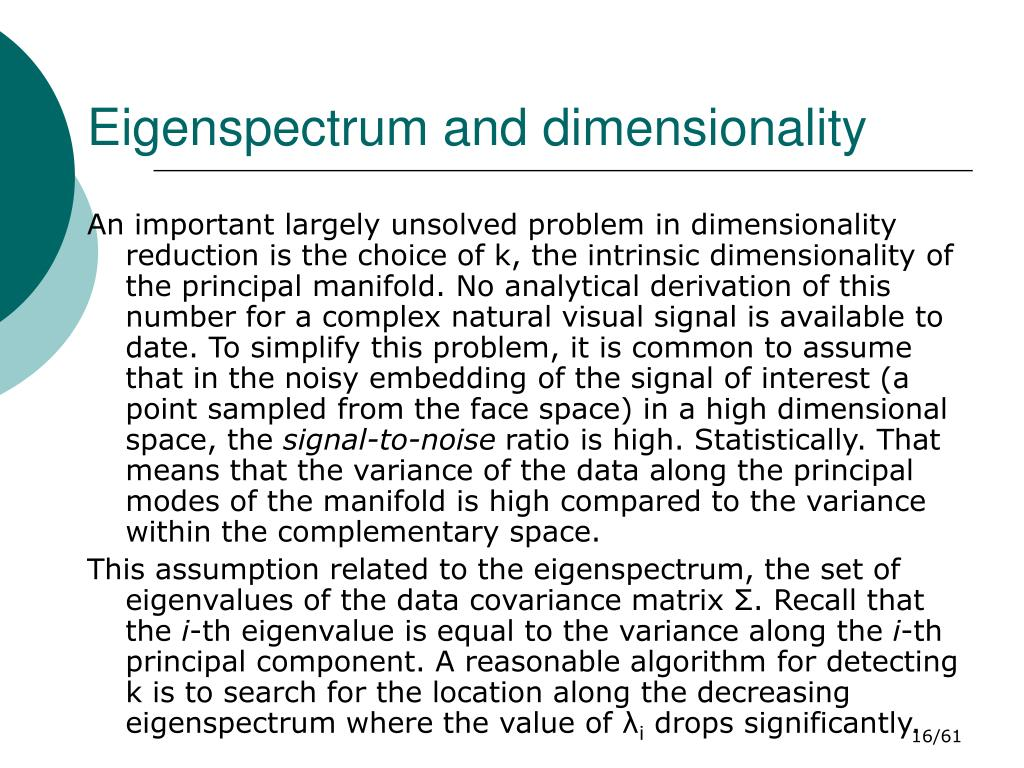 Eigenspectrum and dimensionality