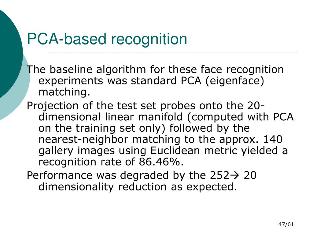 PCA-based recognition