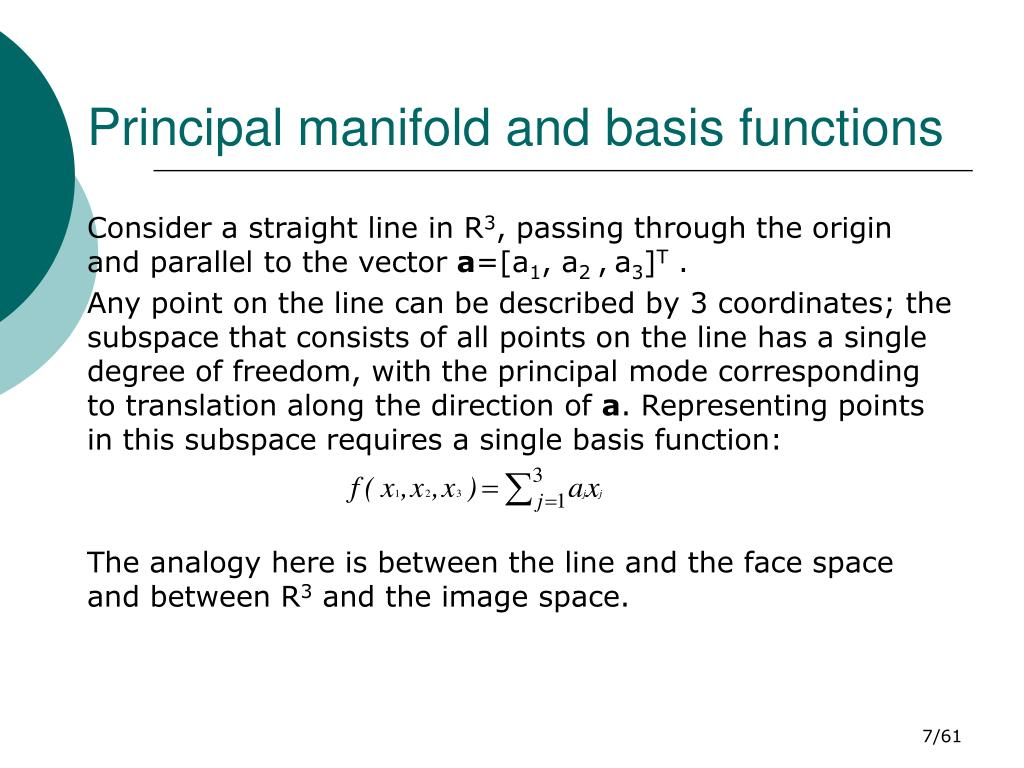 Principal manifold and basis functions