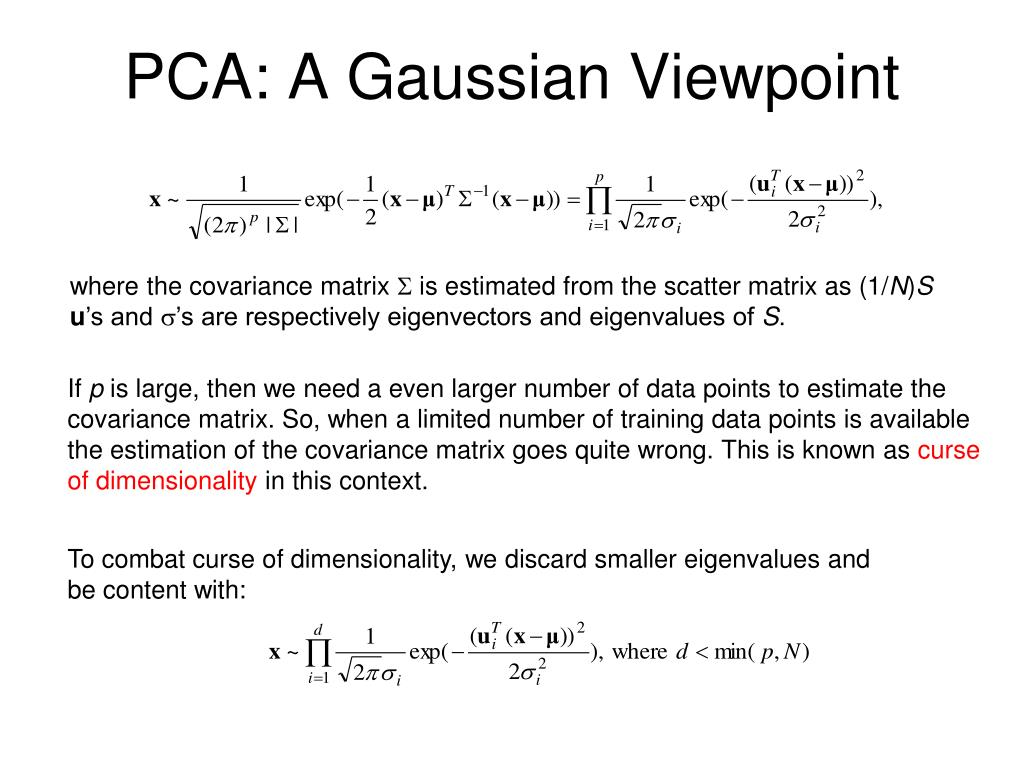 PCA: A Gaussian Viewpoint