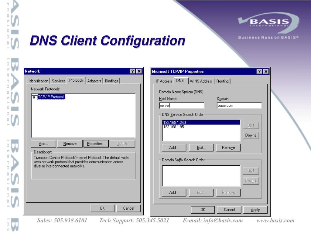 DNS Client Configuration