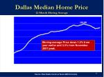 dallas median home price 12 month moving average