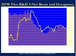 dfw flex r d 3 net rents and occupancy