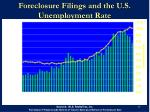 foreclosure filings and the u s unemployment rate