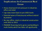implications for commercial real estate